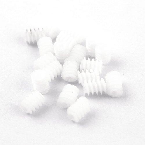 sourcingmap-a13090300ux0375-engranajes-de-plastico-20-piezas-blanca-tornillos-desgastados-6mmx8mm-pa