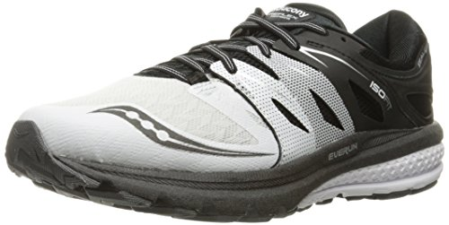Saucony Zealot Iso 2 Reflex, Scarpe da Corsa Uomo, Bianco (White/black/silver), 43 EU