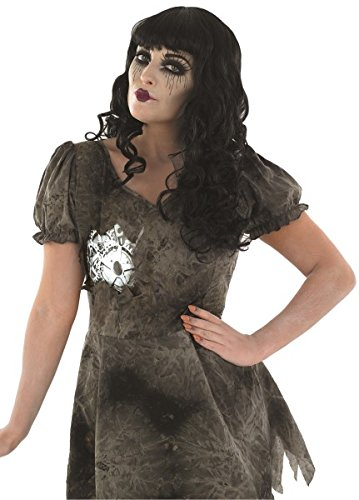 Damen Wind Up & DEADLY Puppe Kostüm für Halloween Clown Circus Fancy Kleid in: L Large UK 16–18 UK 16–18 (Clown Puppe Kostüme)