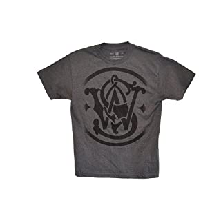 Smith & Wesson gelösten Logo T-Shirt Gr. Large, Charcoal Heather