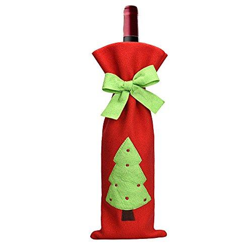 Toogoo(r) forniture per la decorazione natalizia del freddo della bottiglia dell'arco- albero di natale