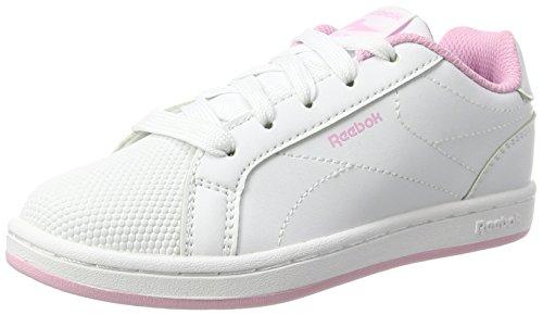 Reebok Mädchen Royal Complete Cln Sneaker, Weiß (White/Charming Pink), 36 EU (Leder Athleisure)