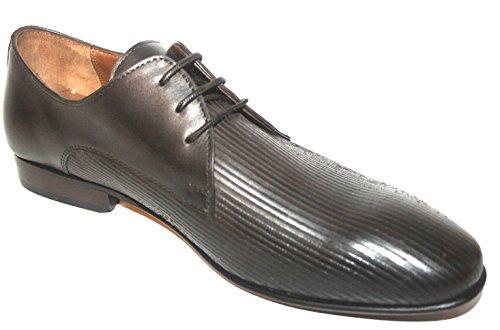 Manz , Chaussures de ville à lacets pour homme Noir Noir Marron (tête de mort 187)