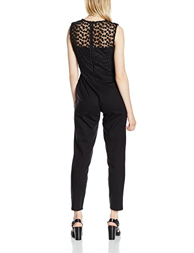 French Connection Chelsea Beau S/Lss Jumpsuit, Combinaison Femme Noir - Noir