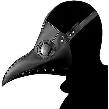 Blue-Yan Halloween Masque doiseau dhorreur Cosplay Masque de la peste m/édecin Masque Corbeau Halloween Costume Accessoires.