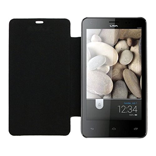 Acm Leather Diary Folio Flip Flap Case For Lava Iris 502 Mobile Front & Back Cover Black  available at amazon for Rs.323