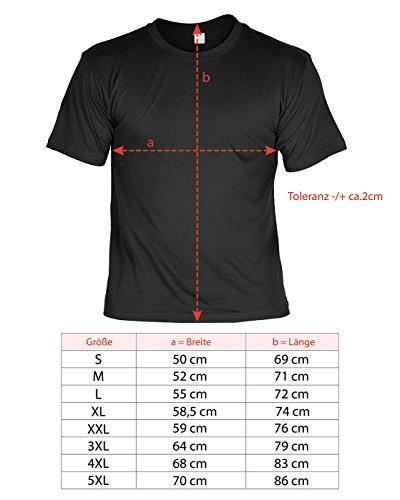 41p%2BU72YtnL - Tini - Shirts Griller Sprüche-Tshirt - lustiges Grill-Set - Griller Partyshirt : Grillsport Trainer Schwerpunkt Bauch-Beine-PO - Bekleidung Grillen Grill Zubehör + Mini Flaschenshirt Gr: 3XL