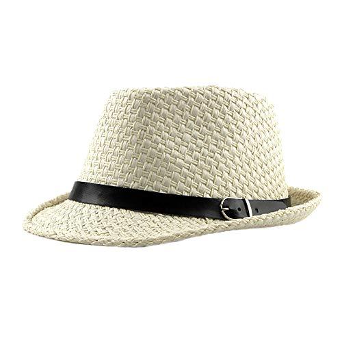 Kentop Panamahut Fedora Hut Damen Herren Strohhut Sonnenhut Faltbarer Trilby Hut (Beige)