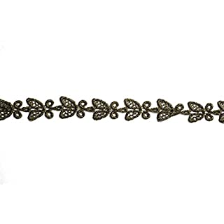 altotux 2,5 cm Antik Gold Metallic Venice Lace Trim Sewing Notions, von 2 Meter