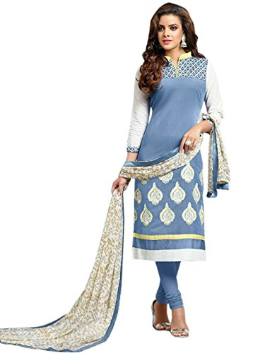 pakiza Design new grey chanderi cotton partywear salwar suit dress material