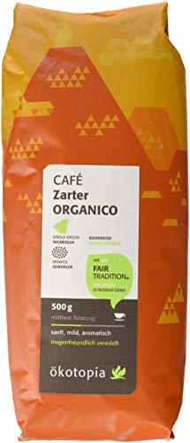 Ökotopia Café Zarter Organico kontrolliert biologischem Anbau, 1er Pack (1 x 500 g)