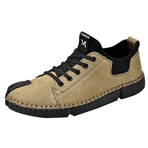 FeiBeauty Casual Lederschuhe HerrenBreathable beiläufige lederne Müßiggänger-Schuhe der Männer schnüren Sich Oben Oxfords-Turnschuh-Schuhe Gr.38-46