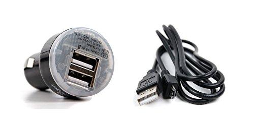 DURAGADGET Ladekabel mit Micro-USB und PKW-Ladestecker zum Aufladen Ihres Icefox Thunder | Hero | Hero Plus | Bingo Smartphones