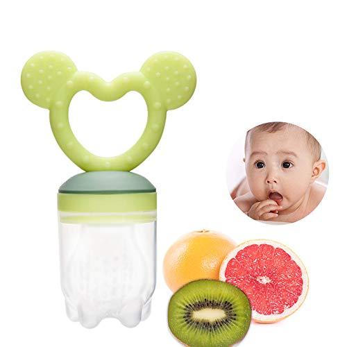 ZOSHING Silicone d'aliments frais pour nourrissons, Grignoteuse de fruits frais pour bébé, bébés, Jouet de dentition infantile(Vert)