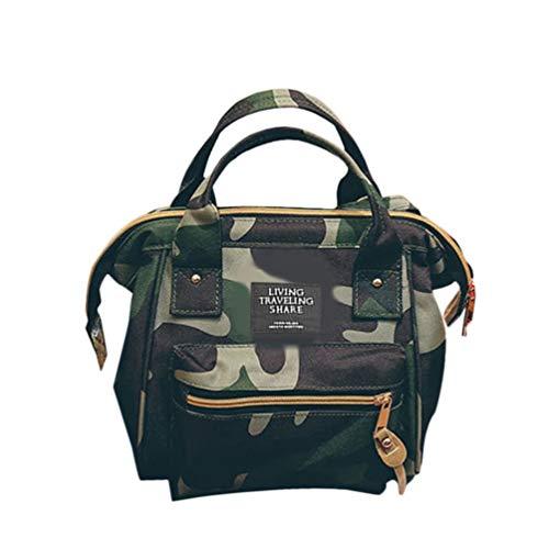Diseño de moda para mujer Tamaño pequeño Bolsos de lona Damas femeninas Todos los vestidos de un solo bolso bandolera Bandolera-Camuflaje-1 Tamaño