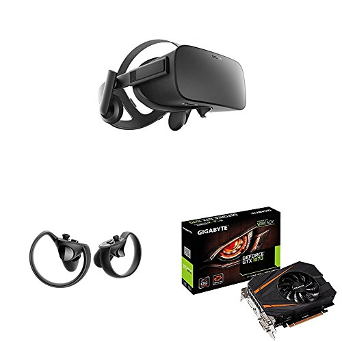 Price comparison product image Oculus Rift VR Headset + Touch Controller + GIGABYTE NVIDIA GeForce GTX 1070 OC 8GB ITX PCI-E GRAPHICS CARD