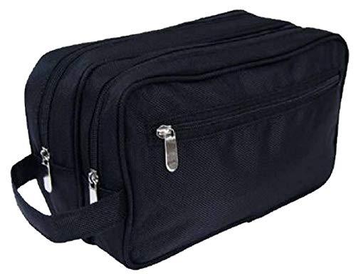 L Schwarz Kulturtasche für Herren