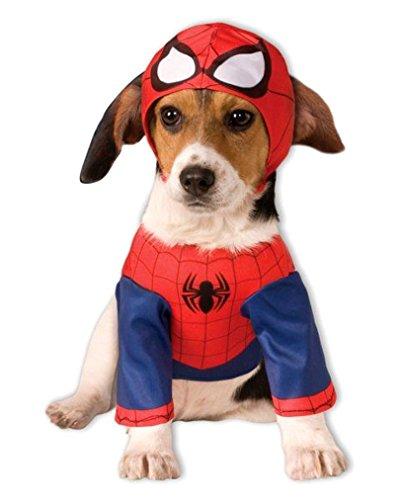 Spider-Man Hunde-Kostüm L (Vierbeinigen Kostüm Halloween)