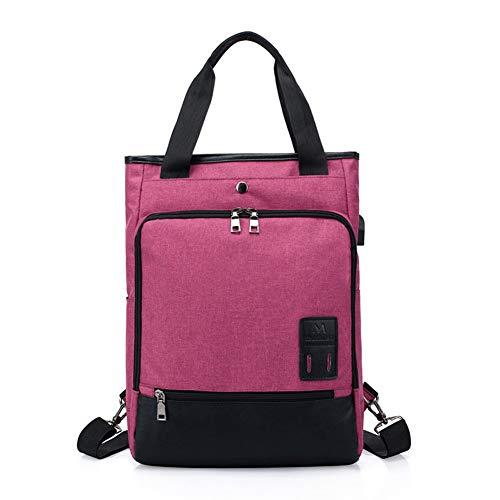 Pingrog Laptop Rucksack Couple Models with USB Charging Bag Dual Stilvolle Unikat Shoulder Shoulder Bag Handbag Anti Theft Package Taschen (Color : Purple, Size : One Size) Rv-batterie-kabel