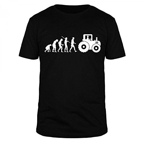 FABTEE - Evolution Landwirt Bauer Traktor, Fun T-Shirt Herren, Größen S-5XL, Größe:M;Farbe:Schwarz