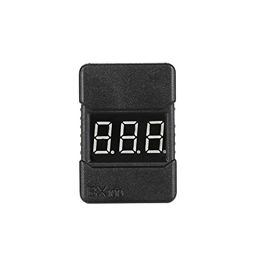 MobiliarbusLiPo Battery Voltage Tester Low Voltage Buzzer Alarm Con indicatore LED BX100 1-8S