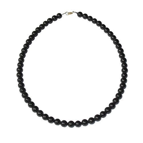 Collar Turmalina negra 100cm - Bolas de piedra 8mm...