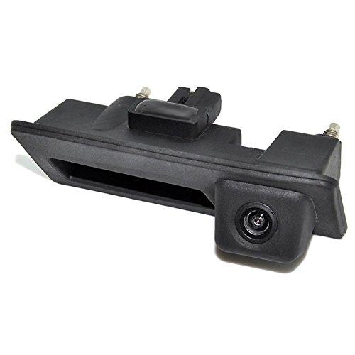 Freeauto Rückfahrkamera mit Heckklappengriff für Universal Monitore (RCA), Rückansicht Rückfahrkamera für Audi A4 A5 S5 Q3 Q5 VW Passat Tiguan Golf Passat Touran Jetta Sharan Touareg