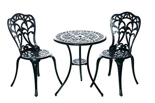 Hochwertiges aufwendig gearbeitetes Bistro Tisch Set, 152400/C1 550 stabiles Gartenmöbel Set,...