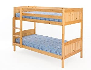 Christopher Bunk Bed in Natural Pine with 2 Mattresses