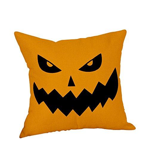 TTLOVE Halloween Pillow Cases Linen Sofa Pumpkin Ghosts Cushion Cover Home Decor Leinen KissenbezüGe KüRbis Geister Kissenbezug Protektoren Bunte BettwäSche Abdeckung (Bunt1)