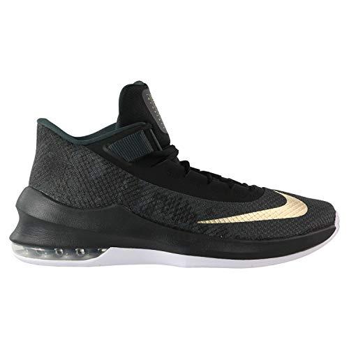 Nike Air MAX Infuriate 2 Mid, Zapatos de Baloncesto para Hombre, Negro (Anthracite/Metallic Gold/Black/White 002), 42 EU