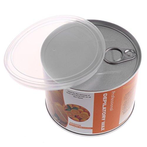 perfk 400g Epilation à la Cire - Cire Dépilatoire - Cire à Epiler Pelable - Hard Wax Beans pour Dépilation Jambes Aisselles Zone Bikini Corps - Orange