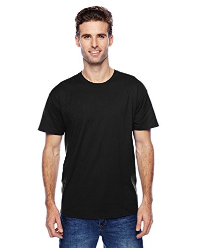 Hanes uomo S/S x-temp maglietta a maniche corte Medium,1 Black / 1 Light Steel