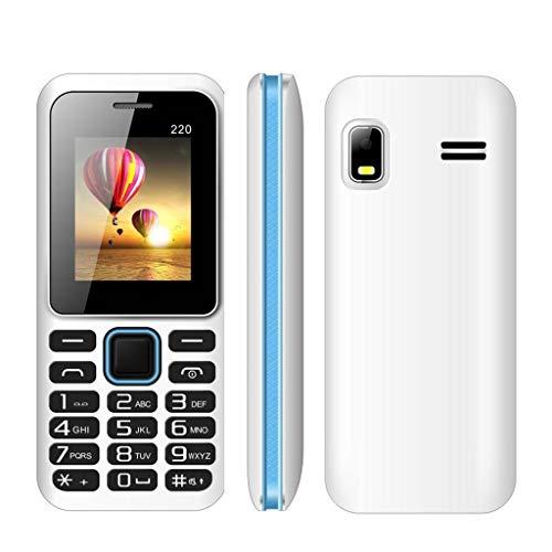 Comie Mini-Bluetooth-Telefon | Erweiterungstelefon ohne Vertrag | 2G Unlocked-Doppelkarten-Notruftaste | Große Taste Mobiler Notruffunktion | Kleinste der Welt | for Old Elderly Man Black Red (Weiß) Red Unlocked Smartphone