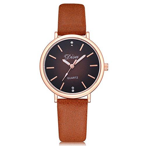 Uhren Damen Armbanduhr Frauen Freizeit Damen Kunstleder Quartz Analog Wrist Watch Armbanduhr Lässig Uhrenarmband Watch,ABsoar