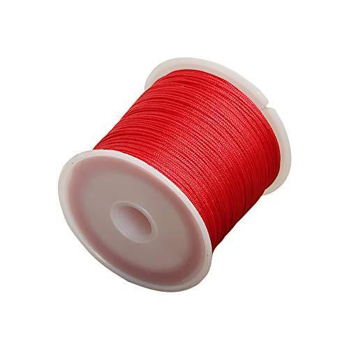 Da.Wa 1x Rojo Cordón Nylon Algodón DIY Collar Pulsera