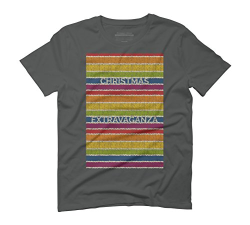 Christmas Extravaganza! Men's Graphic T-Shirt - Design By Humans Anthracite