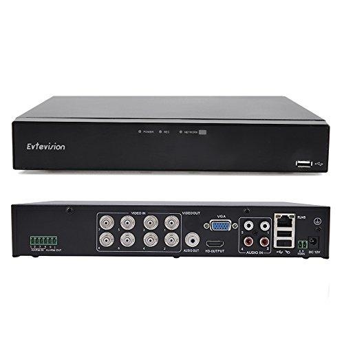 Evtevision 8 Kanal 1080N Digitaler Videorekorder CCTV Netzwerk DVR H.264 HDMI Video Wiedergabe Sicherheit Überwachung Kamera Motion Detection E-Mail Sicherheitsalarm P2P Cloud