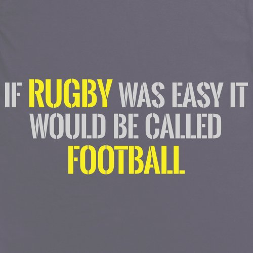 Easy Rugby T-Shirt, Herren Anthrazit