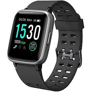 YAMAY Montre Connectée Femmes Homme Smartwatch Etanche IP68 Bracelet Connecté Cardio Podometre Enfant Smart Watch Sport Fitness Tracker dActivité ...