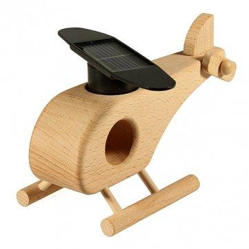 High Quality Solar Powered Kreativ -Flugzeug -Hubschrauber -Modell-Spielzeug aus Holz Geschenk