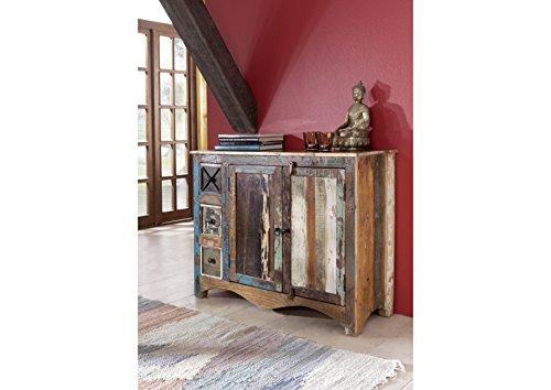 MASSIVMOEBEL24.DE Massivholz massiv Möbel Holz Kommode lackiert Altholz massiv Möbel Nature of Spirit #17 -