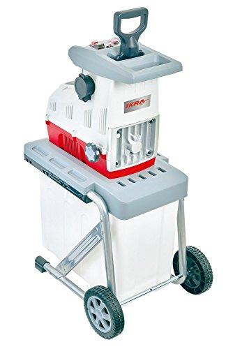 IKRA Elektro Gartenhäcksler Walzenhäcksler ILH 2800 leise robust wartungsarm 2.800W Aststärke bis 44mm