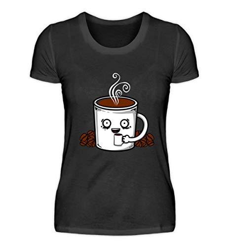 EBENBLATT Kaffee Tasse Kaffeebohnen Coffee Kostüm Geschenk Geschenkidee - Damenshirt ()