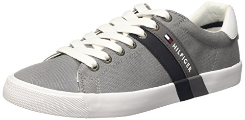 Tommy Hilfiger SM V2285OLLEY 5C Scarpe Low-Top, Uomo, Grigio (Light Grey 051), 41
