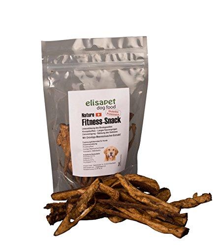 elisapet Fitness-Snack mit Grünlippmuschel-Extrakt - natürlicher Kausnack für Hunde - 200g Rinderkopfhaut