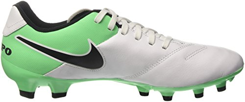 Nike Tiempo Genio Ii Leather, Chaussures de Football Entrainement Homme Blanc (White/Black-Electro Green)