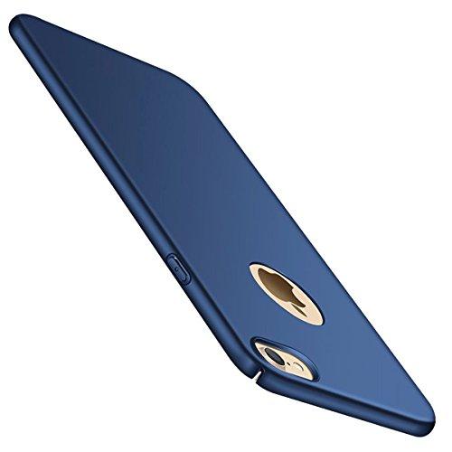 Bylove Iphone 6 or 6s Hülle, Hard PC Rückdeckel Metall Textur sehr dünn anti-dropping Handy Hülle für iPhone 6/6S, iphone 7 (Iphone 7, Dunkelblau)