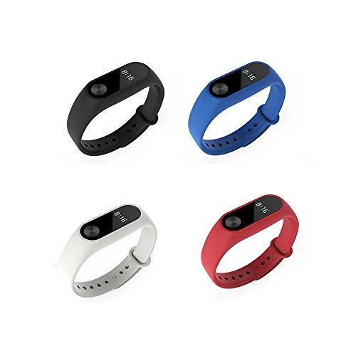 Xiaomi Mi Band 2bande pinhen impermeabile in silicone cinturino da polso braccialetto accessori di ricambio per Xiaomi Mi Band 2Smart Miband