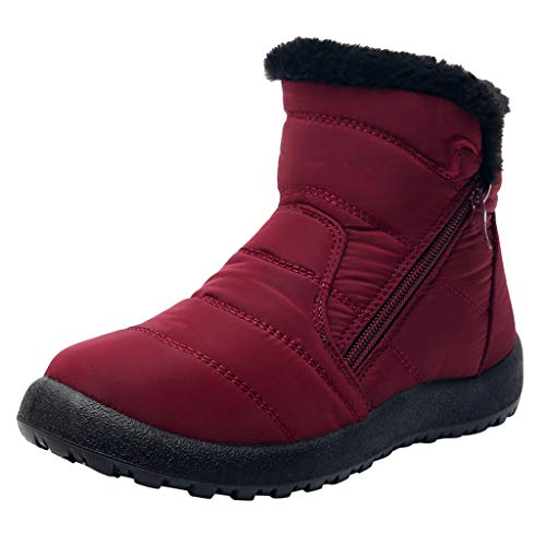 Toasye Damen Schneeschuhe Plus Samt gepolsterte wasserdichte warme Kurze Stiefel Baumwollschuhe Warm Gefüttert Schneestiefel rutschfest Kurz Stiefel Schneeschuhe Outdoor Freizeitschuhe -